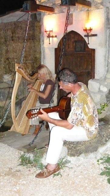 Duo harpe, guitare chez un particulier